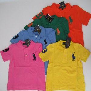 NWT Ralph Lauren SS Big Pony Mesh Polo Shirts Set